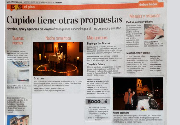 Articulo Impreso Bogota Travel Guide El Tiempo Eskape