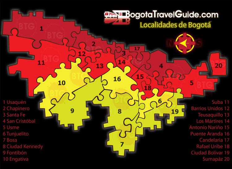 Localidades de bogota la guia del viajero inteligente for Direccion ministerio del interior bogota